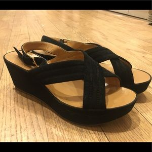J. Crew wedge sandals lightly worn